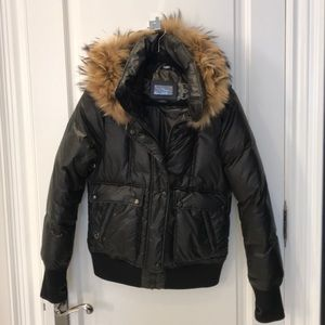 Mackage Black Coat with Removeable Fur Lined Hood
